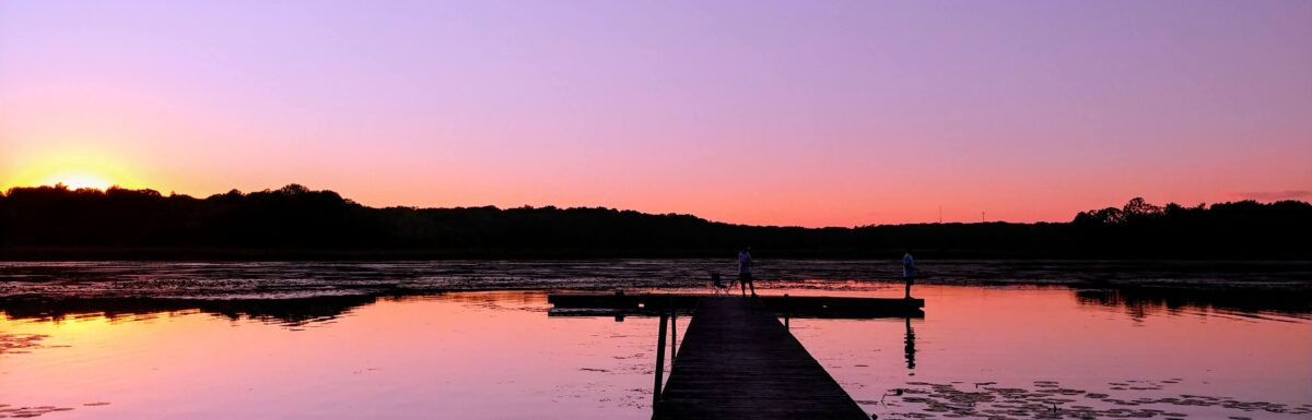 Sunset at ChainO-Lakes State Park in McHenry County Illinois